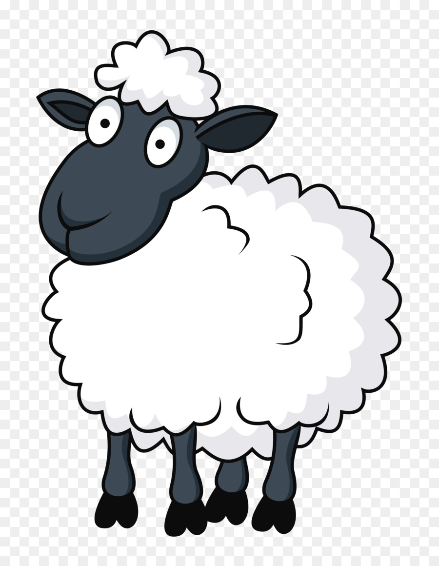 Sheep Clipart Black And White : sheep, clipart, black, white, Transparent, Sheep,, Download, Clipart, Library