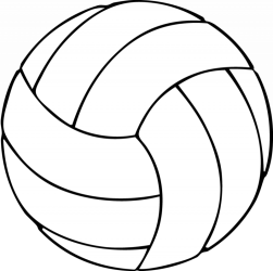 volleyball transparent clipart background clip coloring cliparts library decals window