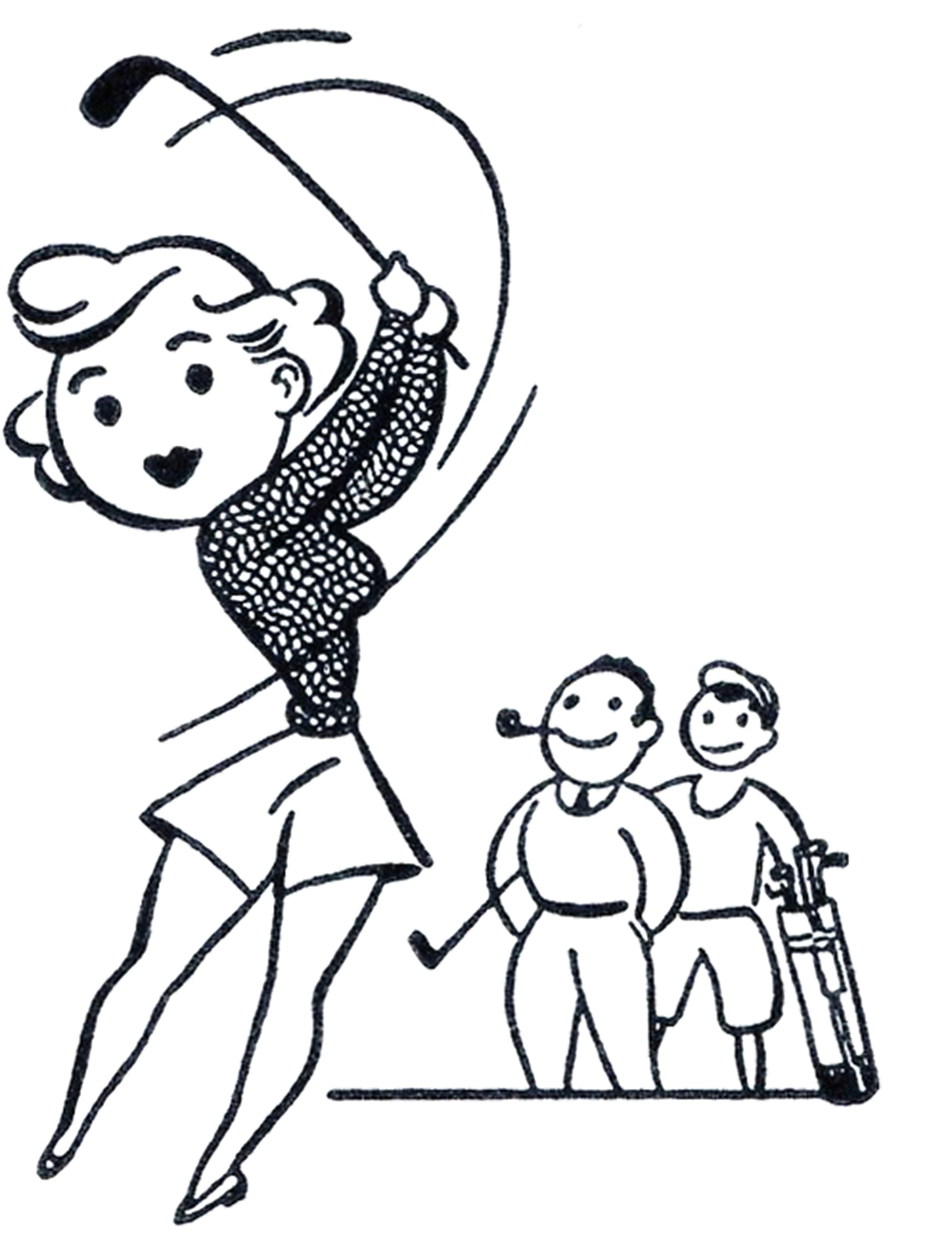 Free Female Golfer Cliparts Download Free Clip Art Free