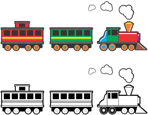 small resolution of railroad track clip art train
