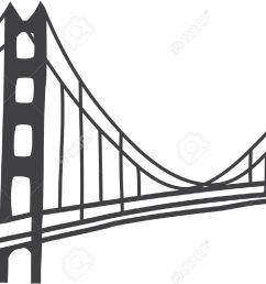 simple golden gate bridge clipart [ 1300 x 904 Pixel ]