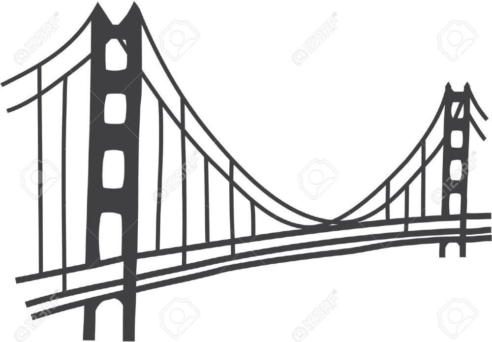 medium resolution of simple golden gate bridge clipart