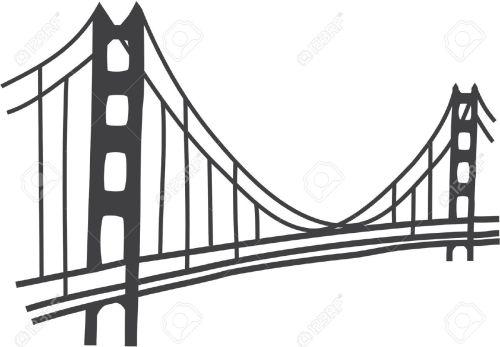 small resolution of simple golden gate bridge clipart