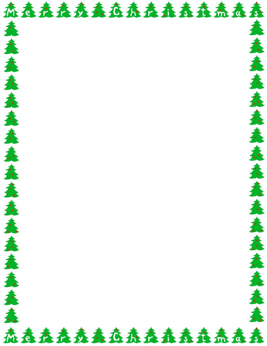 hight resolution of christmas letter border clipart