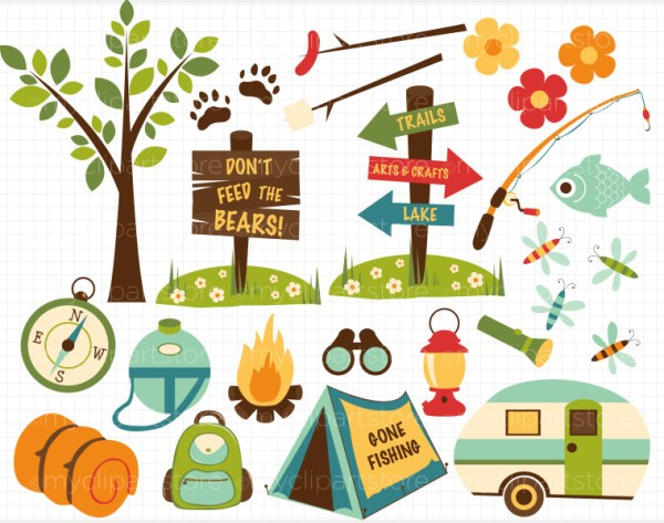 free outdoors border cliparts
