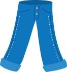 Cartoon Jeans Clip Art