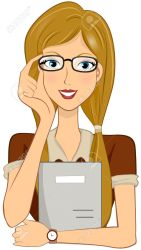 student with glasses cartoon Clip Art Library
