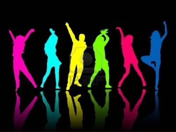 Neon Dance Party Clipart