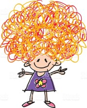 free crazy hair cliparts