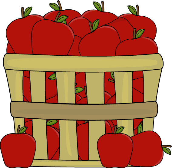 apples in basket clip art