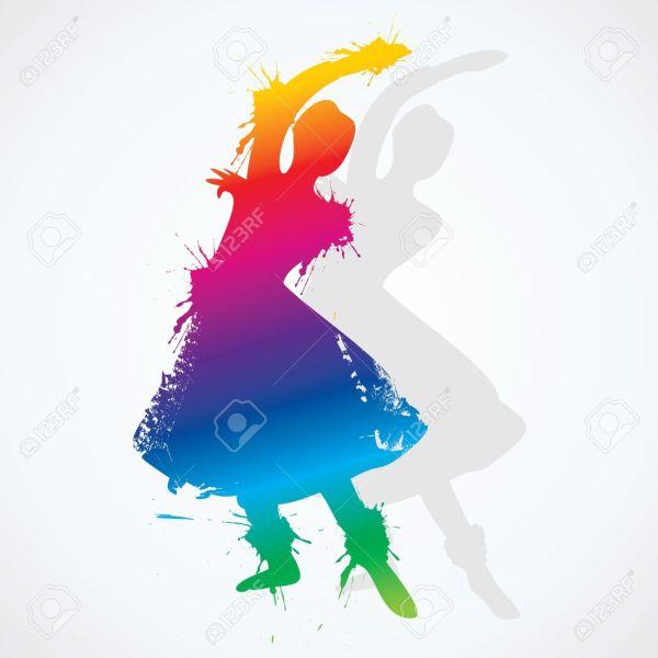 Indian Classical Dance Clip Art