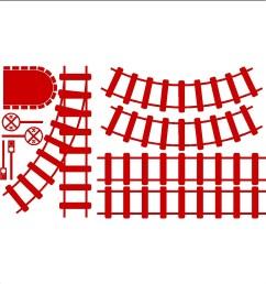 train tracks clipart curved [ 1200 x 1200 Pixel ]