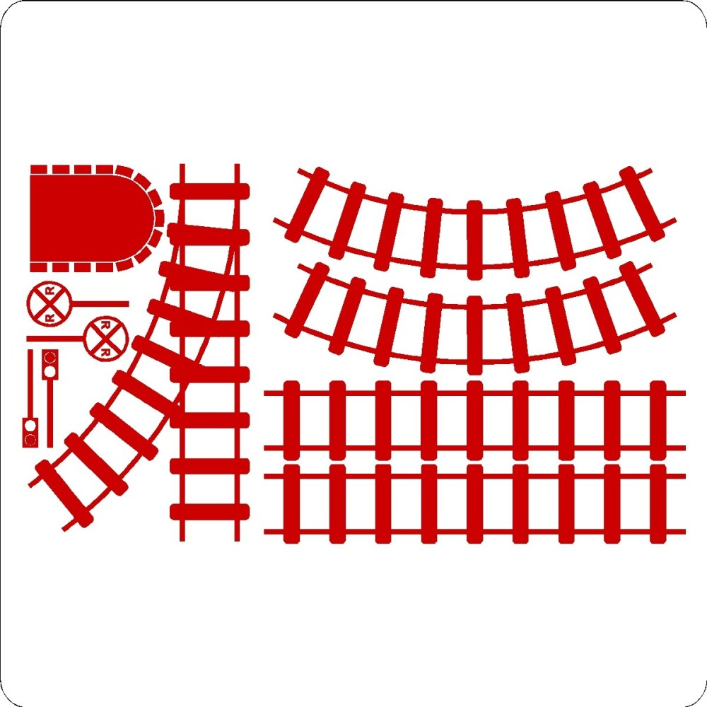 medium resolution of train tracks clipart curved