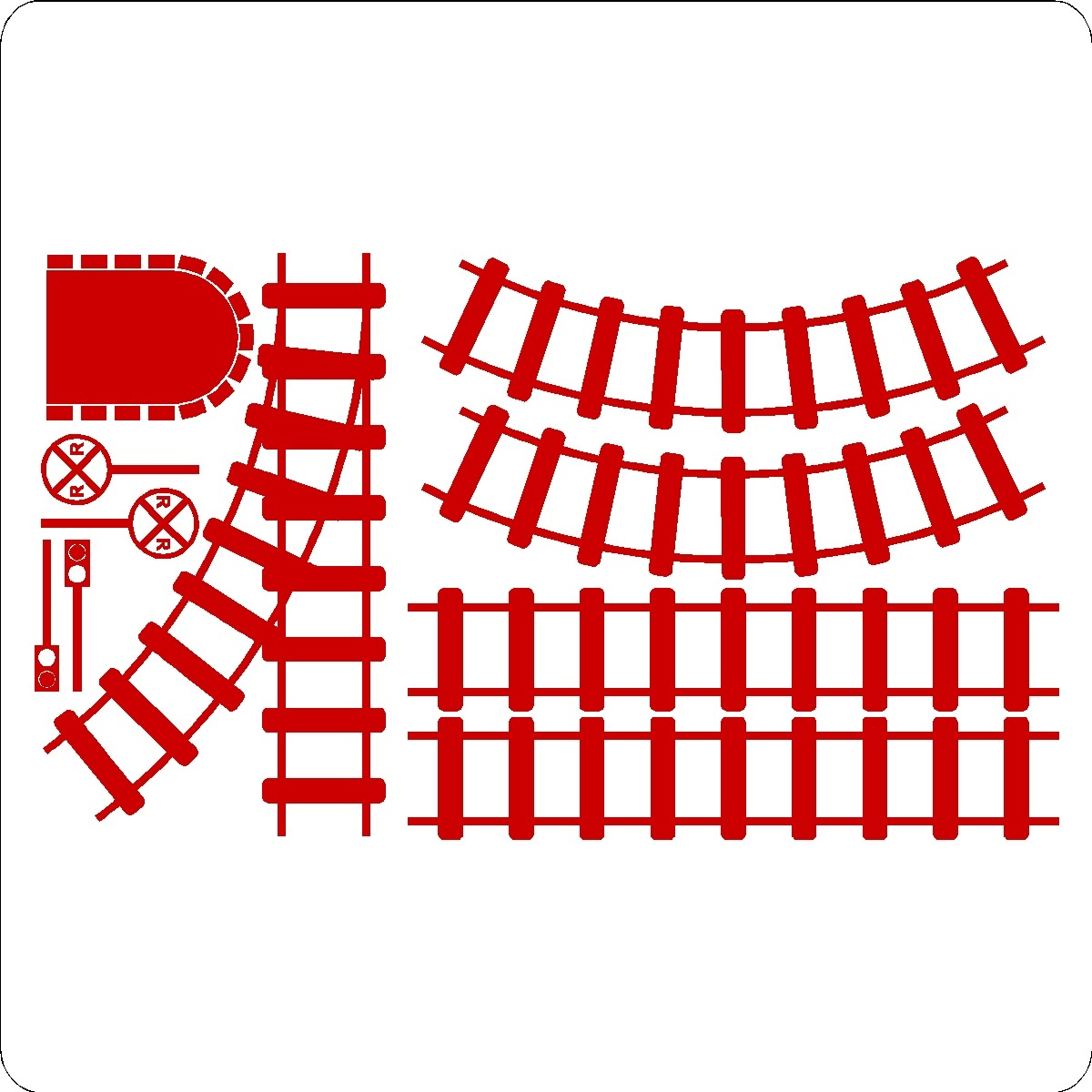 hight resolution of train tracks clipart curved