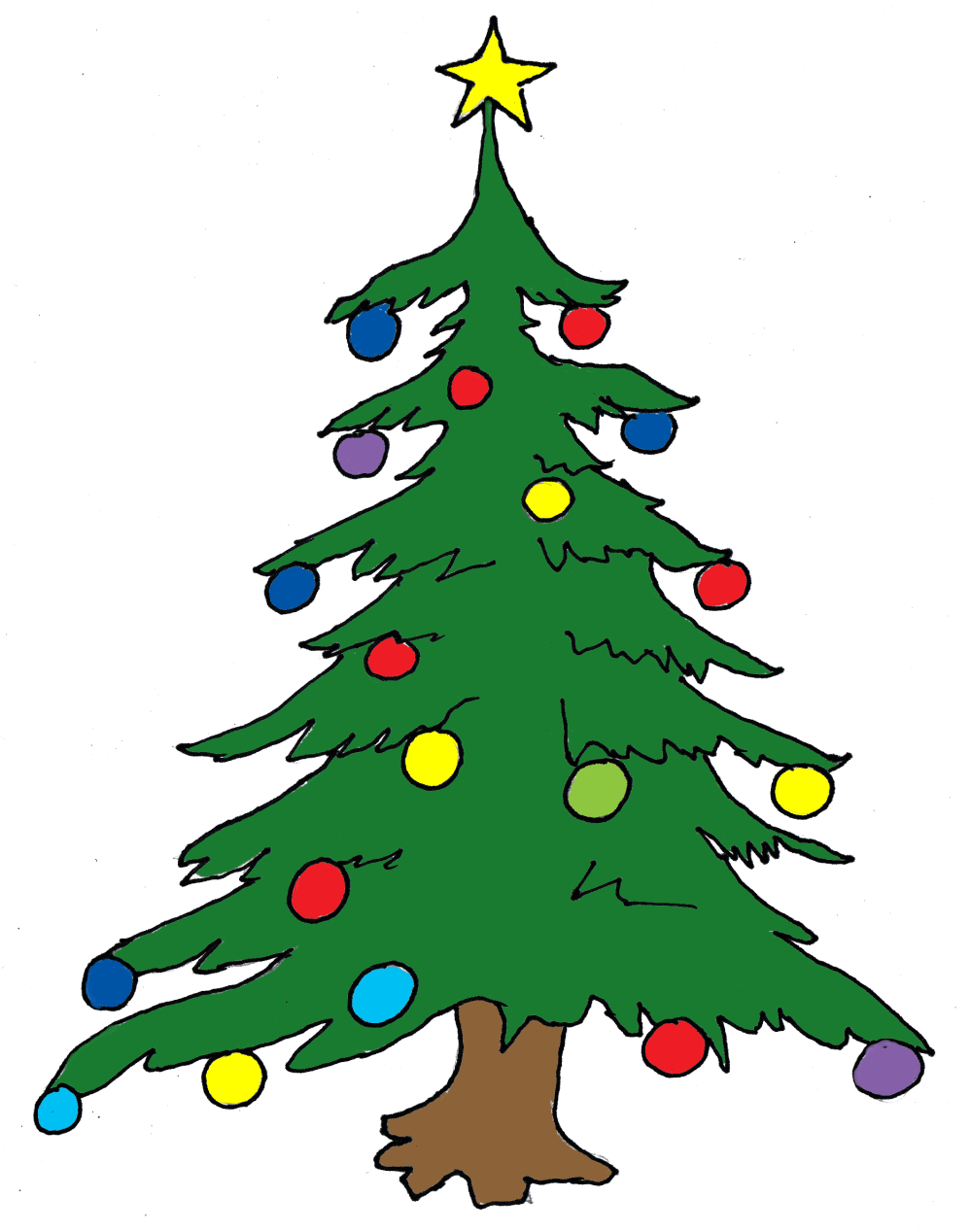 medium resolution of christmas tree clip art free