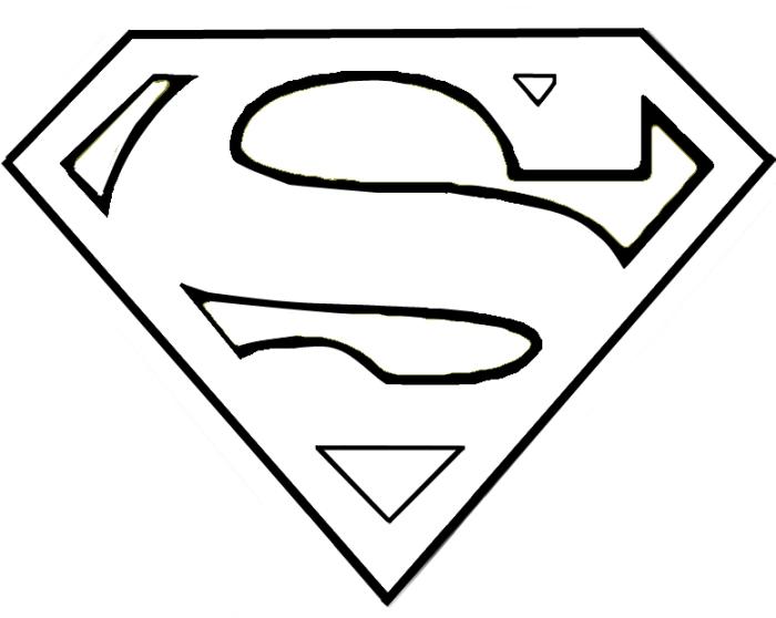 Superhero Emblem Outline