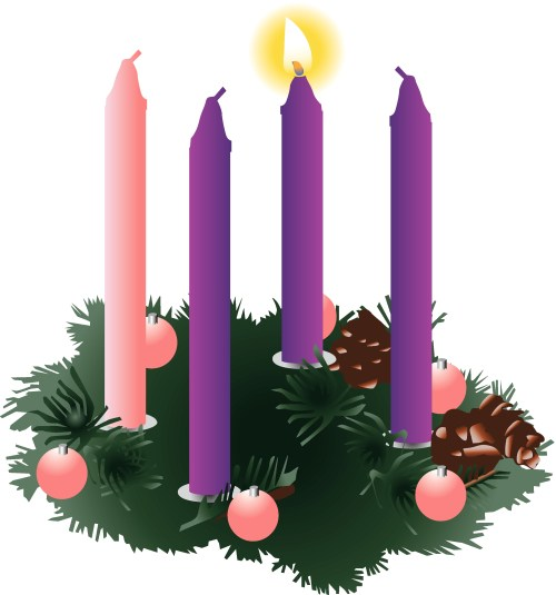 small resolution of advent wreath clipart