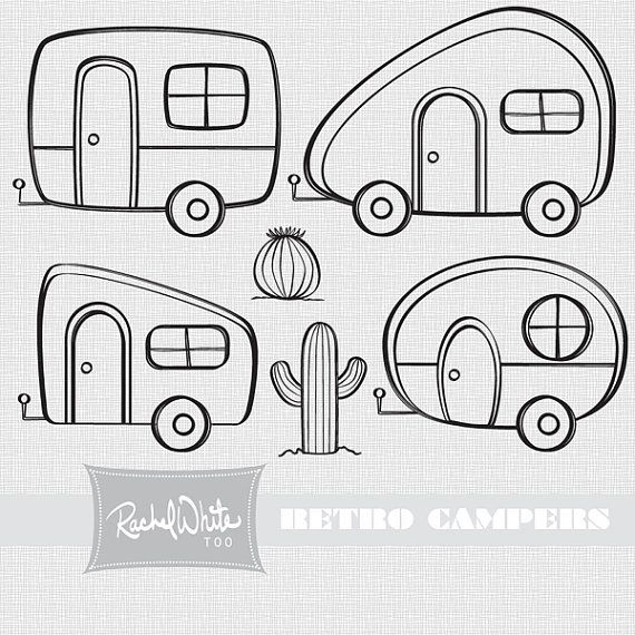 Free Retro Camper Cliparts, Download Free Clip Art, Free