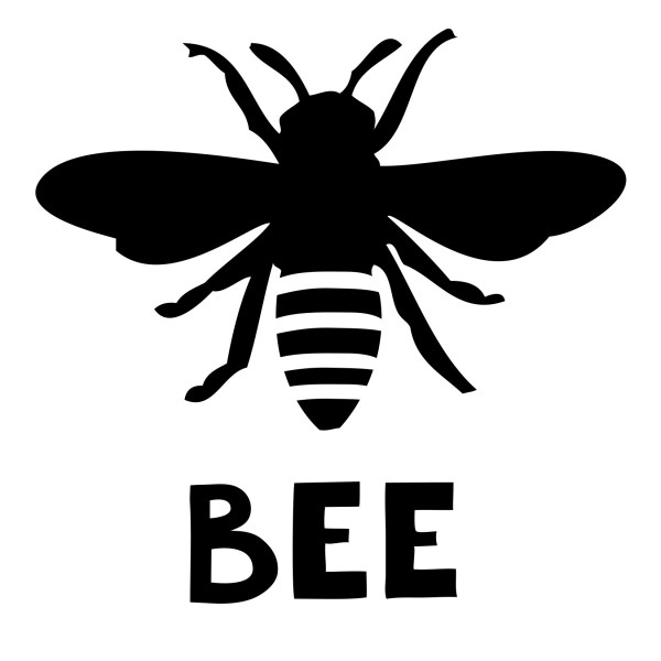 free bee silhouette cliparts