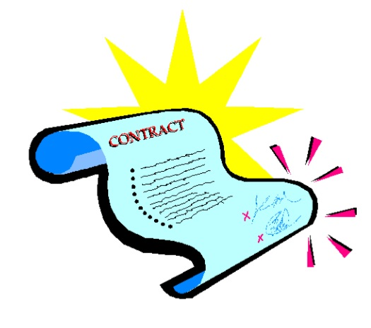 free signing contract cliparts