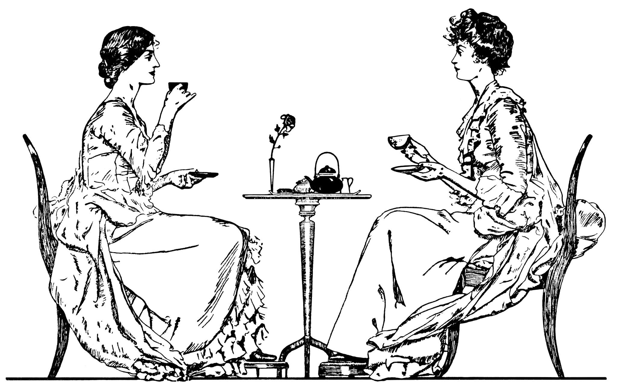 Victorian Tea Party Clipart