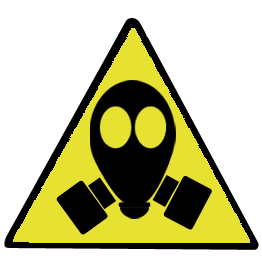 gas mask sign clip