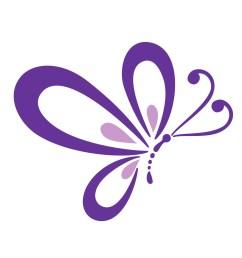 purple butterfly border clipart cute [ 1392 x 1402 Pixel ]
