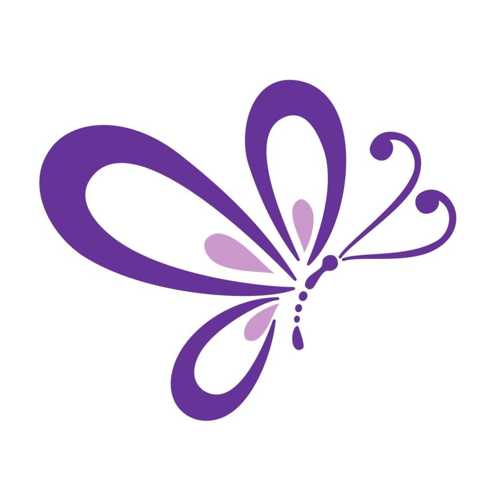 medium resolution of purple butterfly border clipart cute