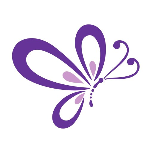 small resolution of purple butterfly border clipart cute