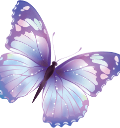 pink and purple butterfly clipart free [ 2900 x 2755 Pixel ]