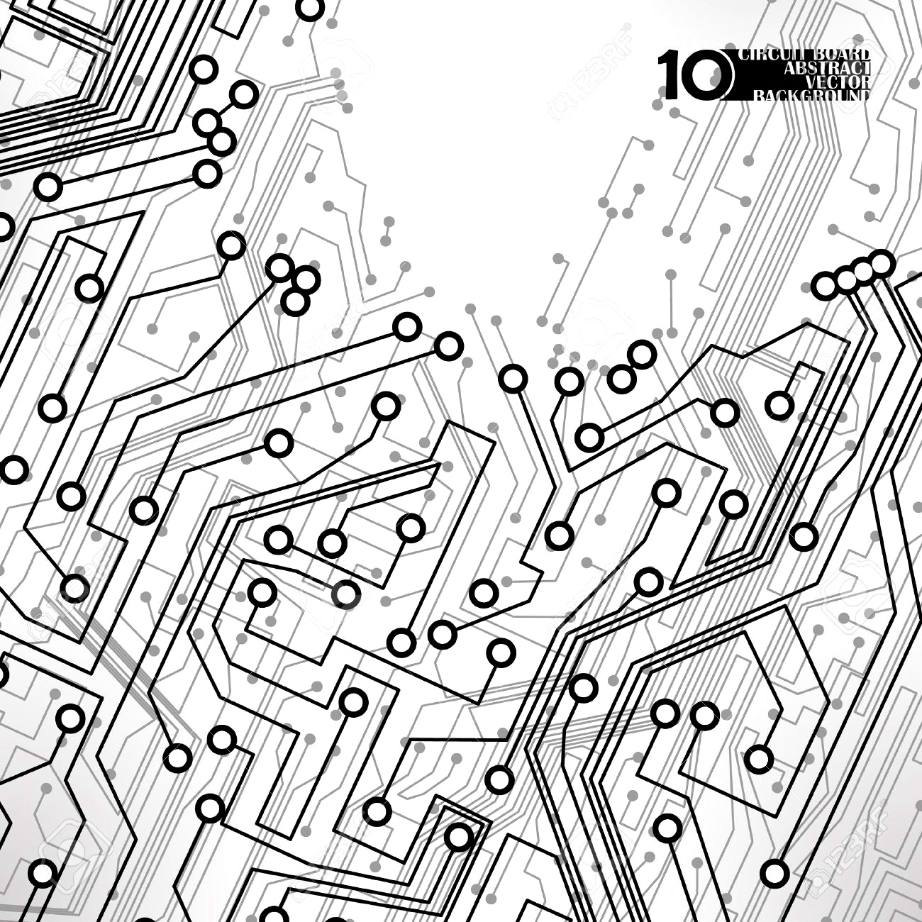 Component Free Circuit Abstract Circuit Board Background