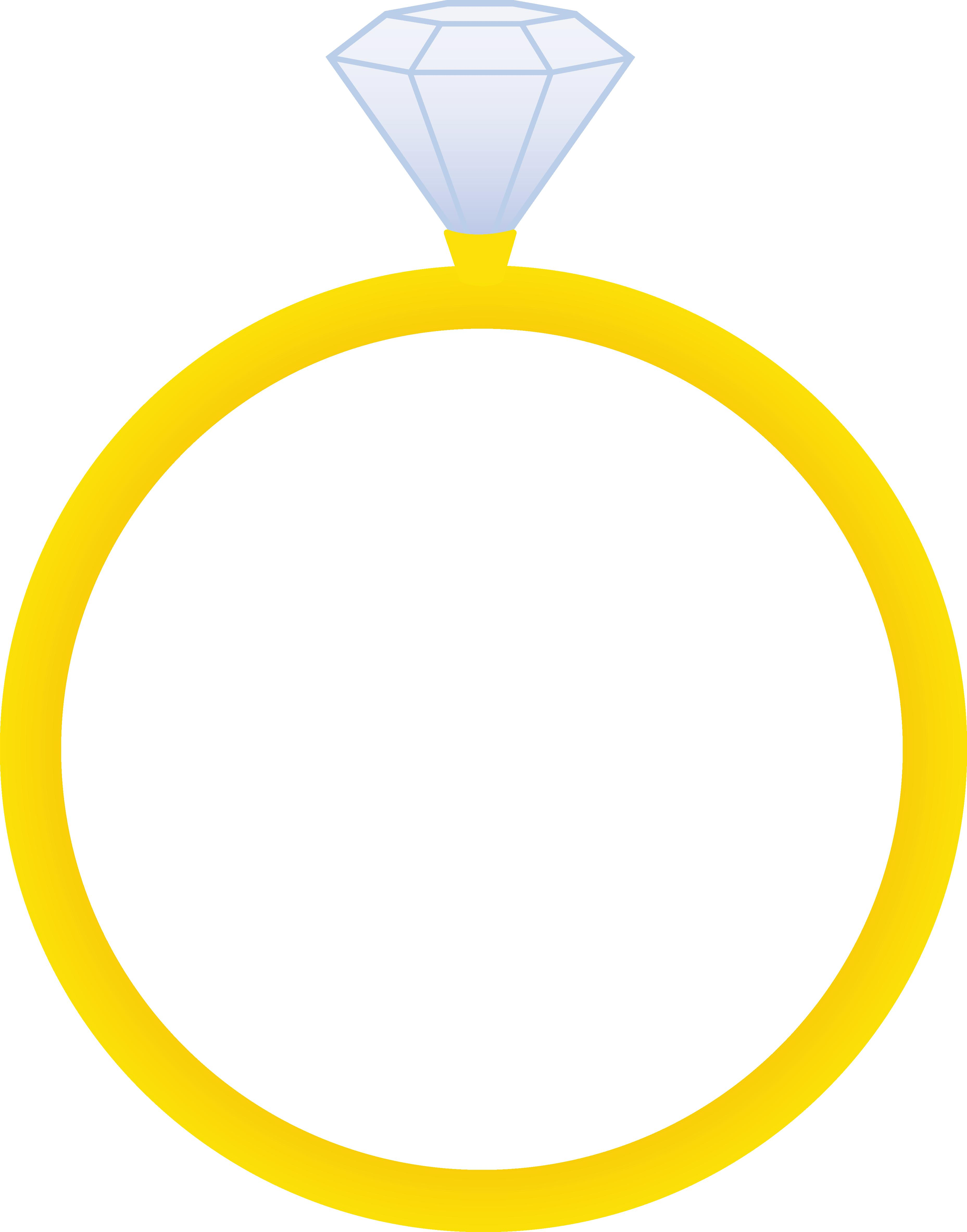 Gold Ring Clipart : clipart, Wedding, Cartoon, Library