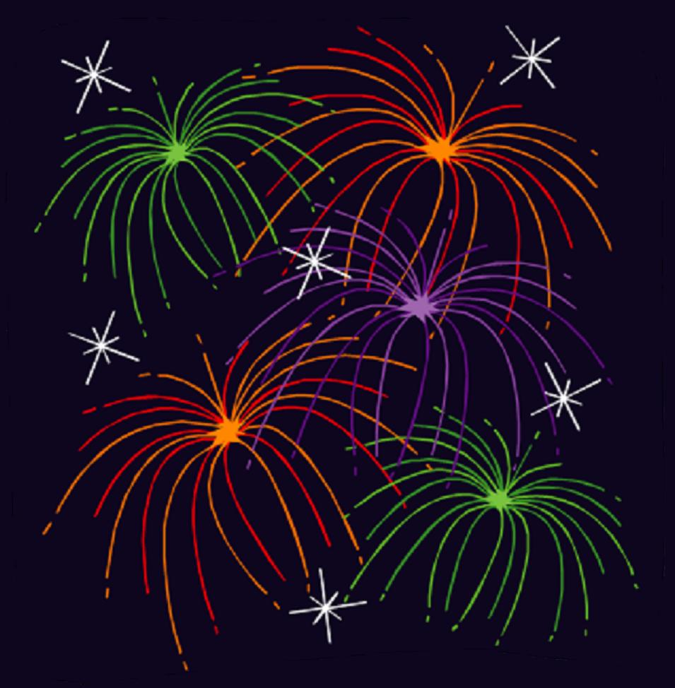 hight resolution of moving animated fireworks clipart
