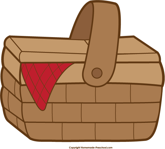 picnic basket clipart free