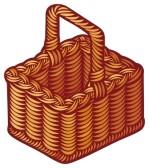 empty picnic basket clip art