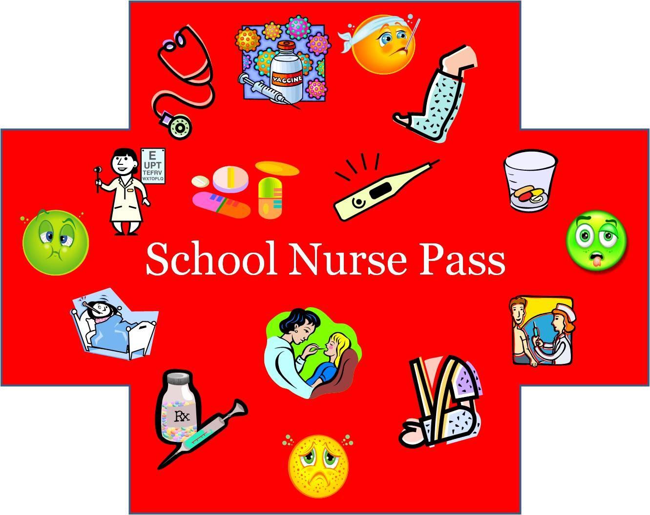 hight resolution of school nurse pass clipart