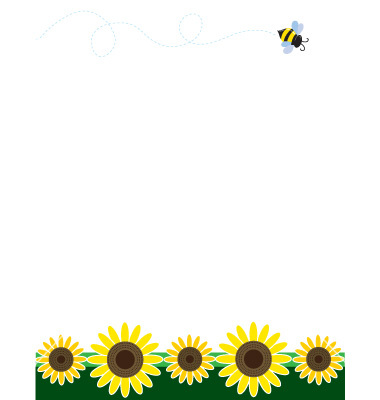 free sunflower border cliparts