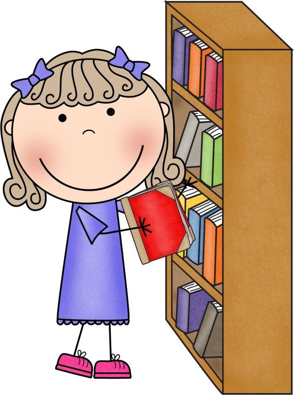 Classroom Library Helper Clip Art