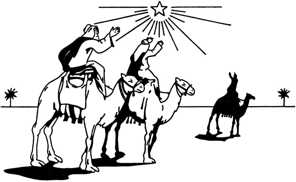 medium resolution of wise men clipart black and white