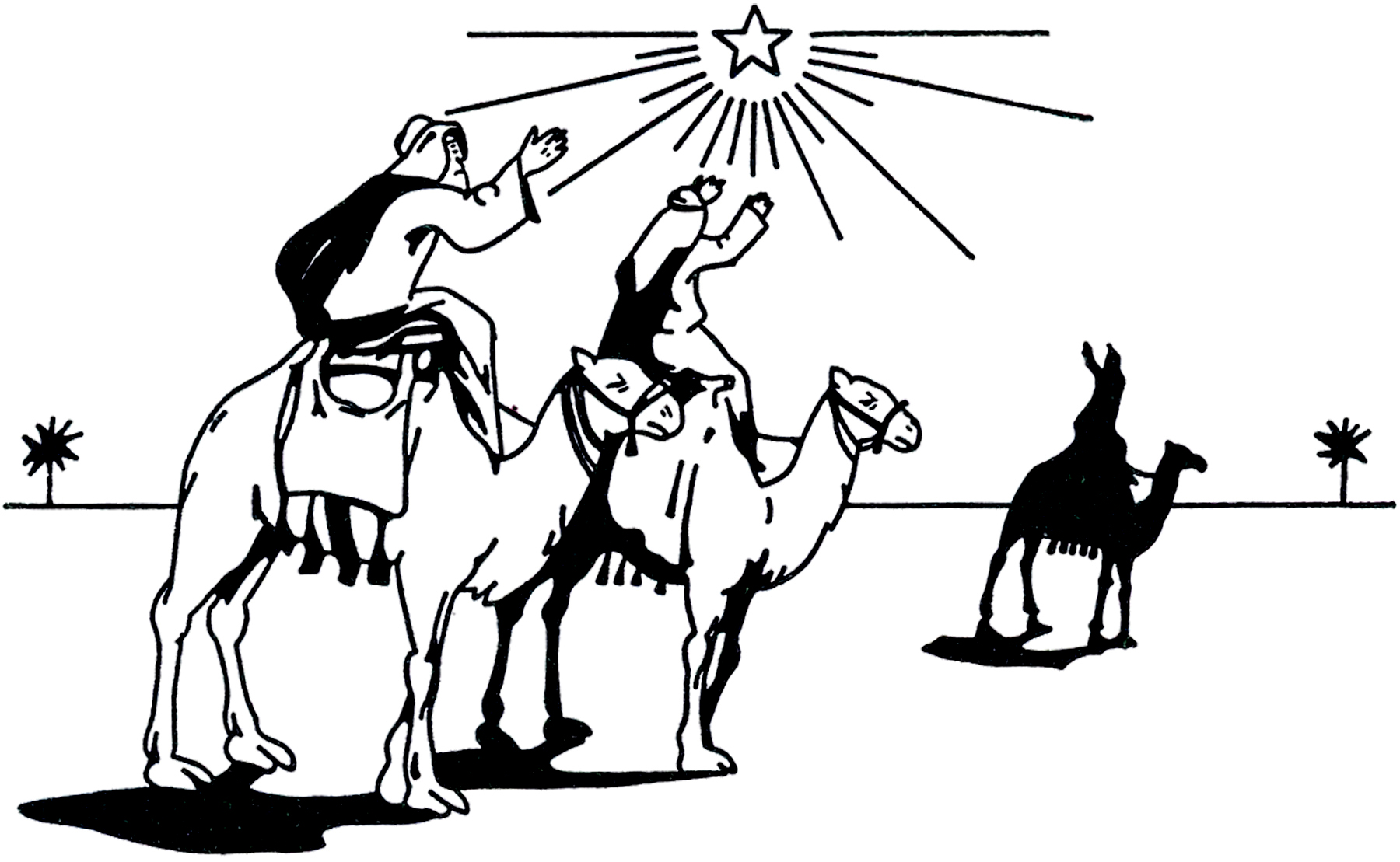 hight resolution of wise men clipart black and white