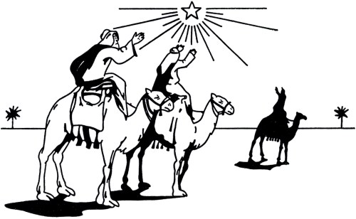small resolution of wise men clipart black and white