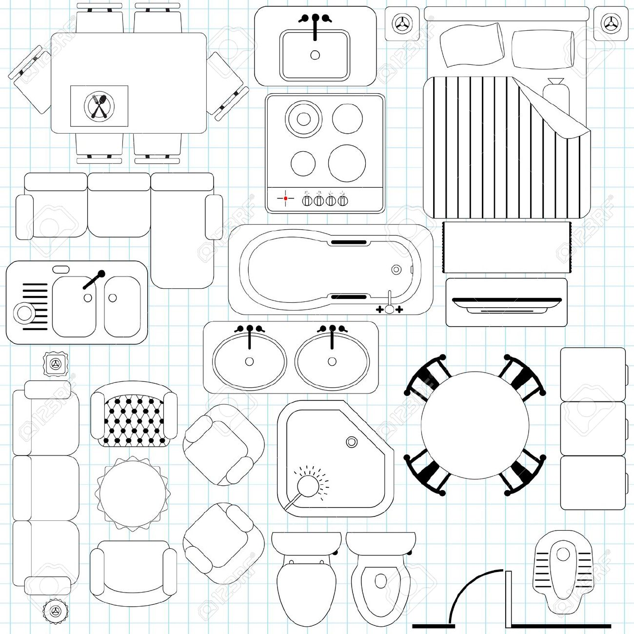 2d Floor Plan Symbols Free