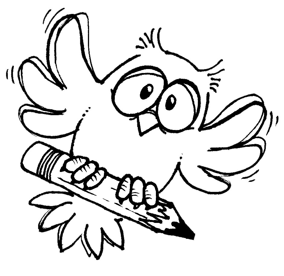 hight resolution of wise owl writing clipart