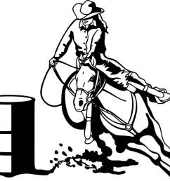 free barrel racing horse clipart image [ 1189 x 1024 Pixel ]