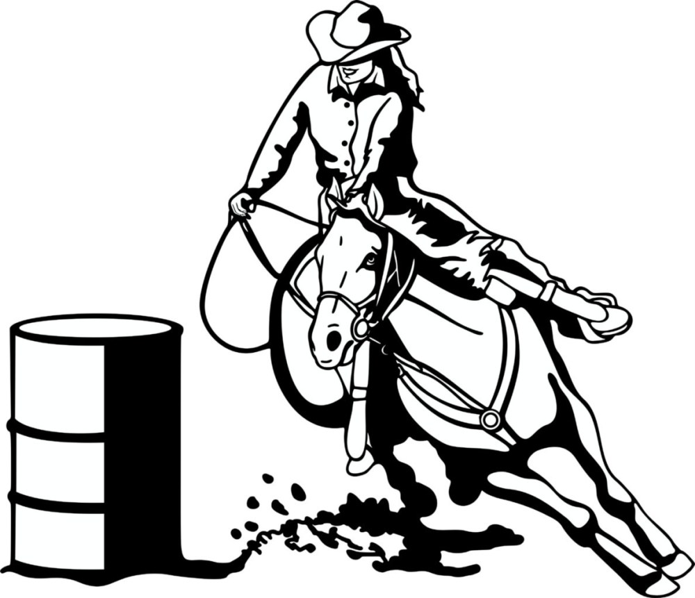 medium resolution of free barrel racing horse clipart image