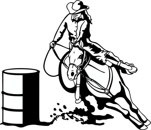 small resolution of free barrel racing horse clipart image
