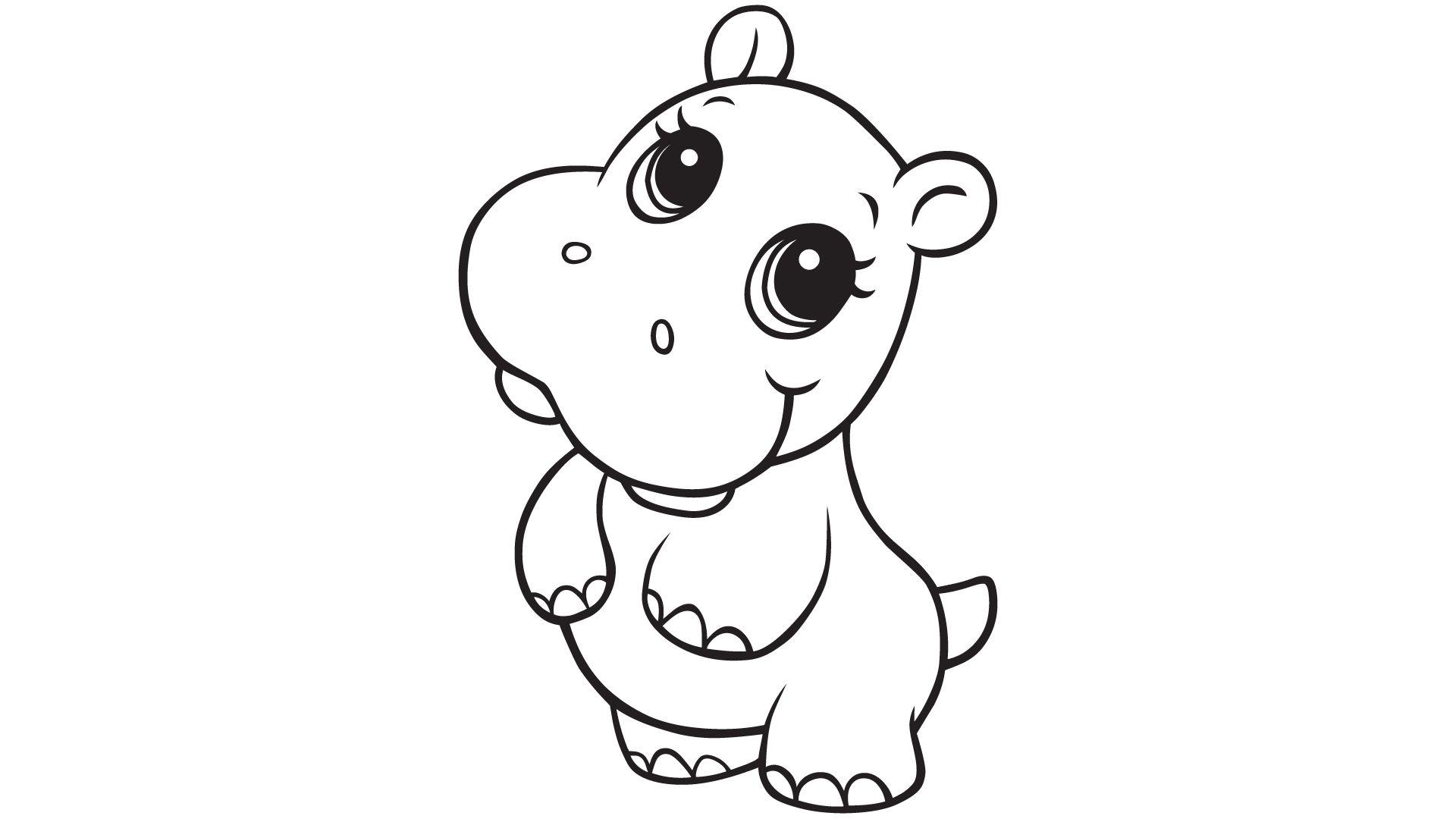 Girl Hippo Clipart