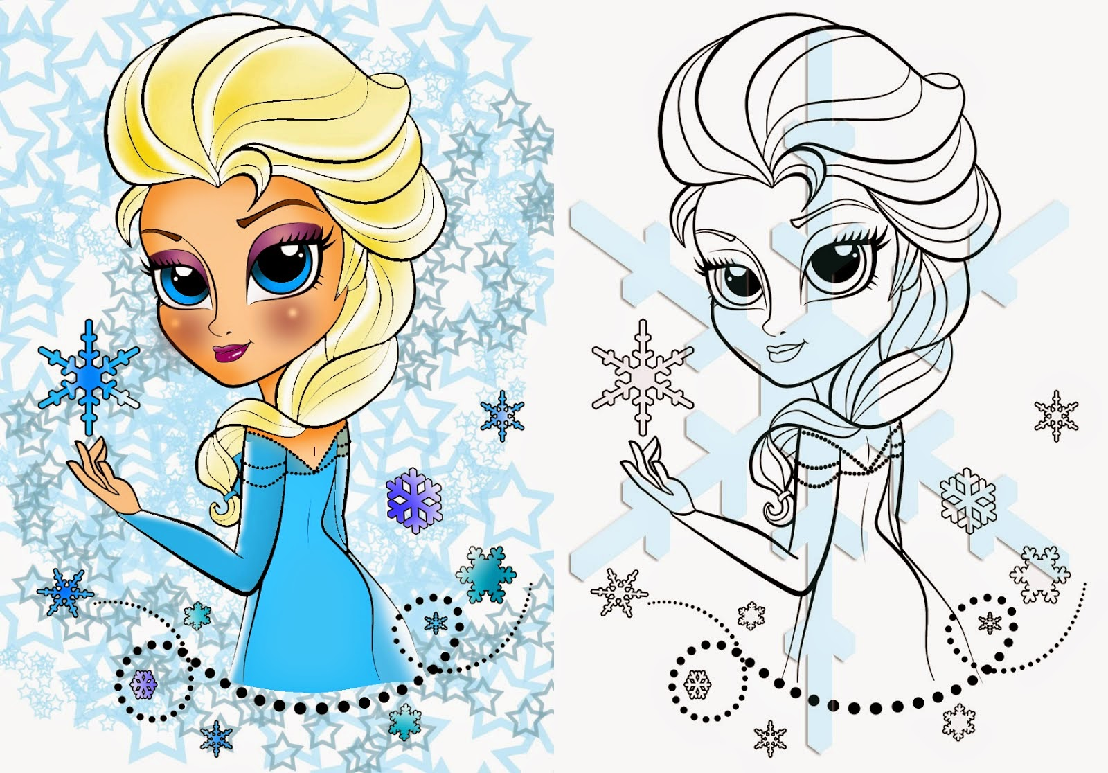 Coloring Page Elsa From Frozen Free Printable Coloring Page