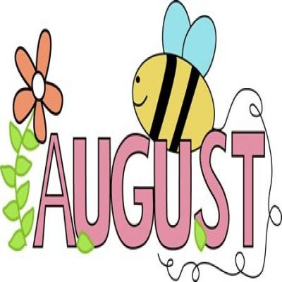 free cute august cliparts