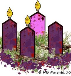 4th sunday of advent wreath clipart [ 1159 x 878 Pixel ]